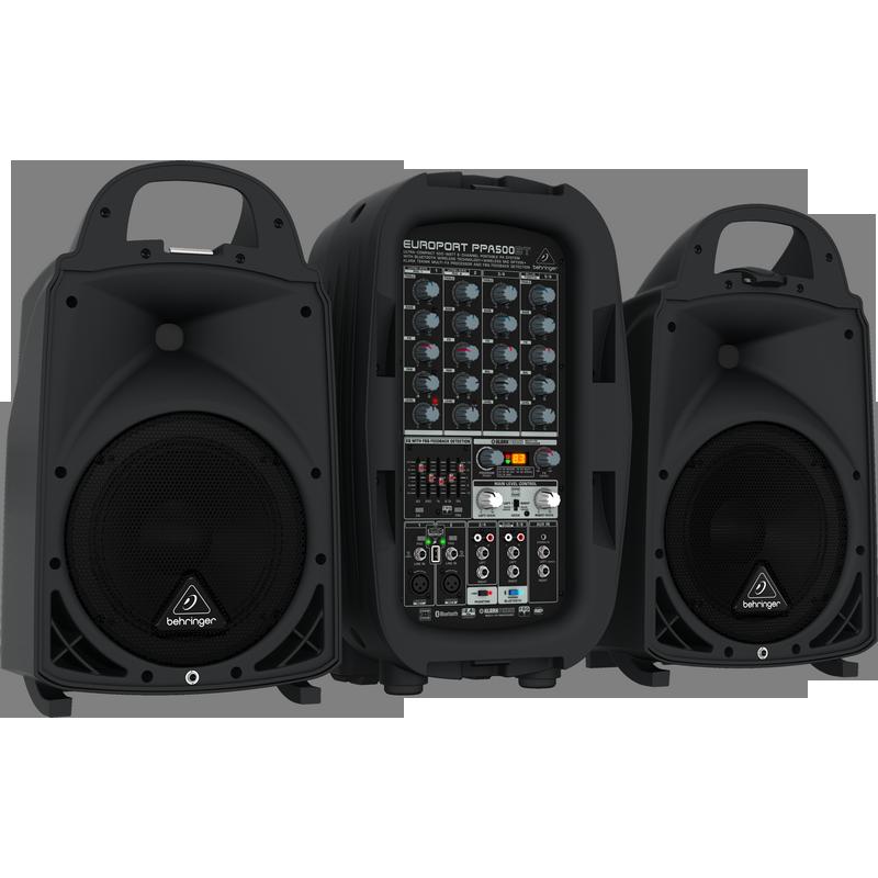 Hệ thông âm thanh cầm tay BEHRINGER EUROPORT PPA500BT