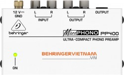 Preamplifier Behringer MICROPHONO PP400